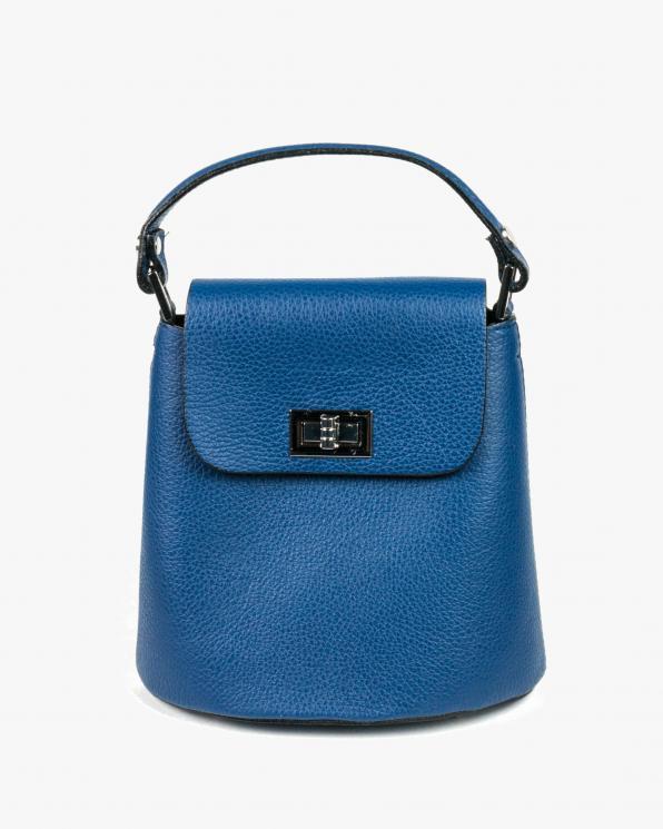 Niebieska torebka damska skórzana GRE419-018/JEANS