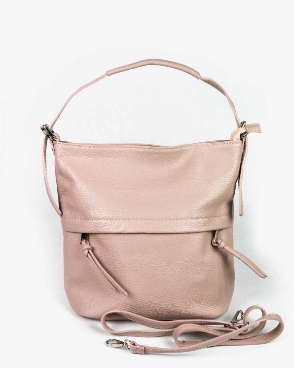 Różowa torebka damska skórzana GRE318-011-BL/CIEMNY RÓŻ
