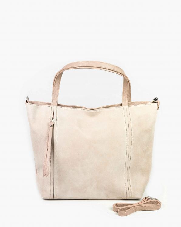 Różowa torebka damska skórzana GRE419-011/RÓŻOWY