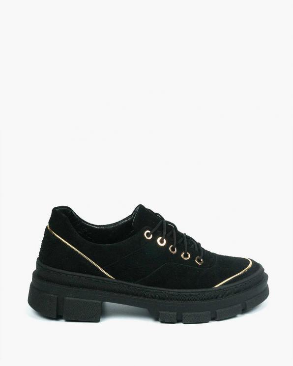 Czarne adidasy damskie skórzane 3666/E12