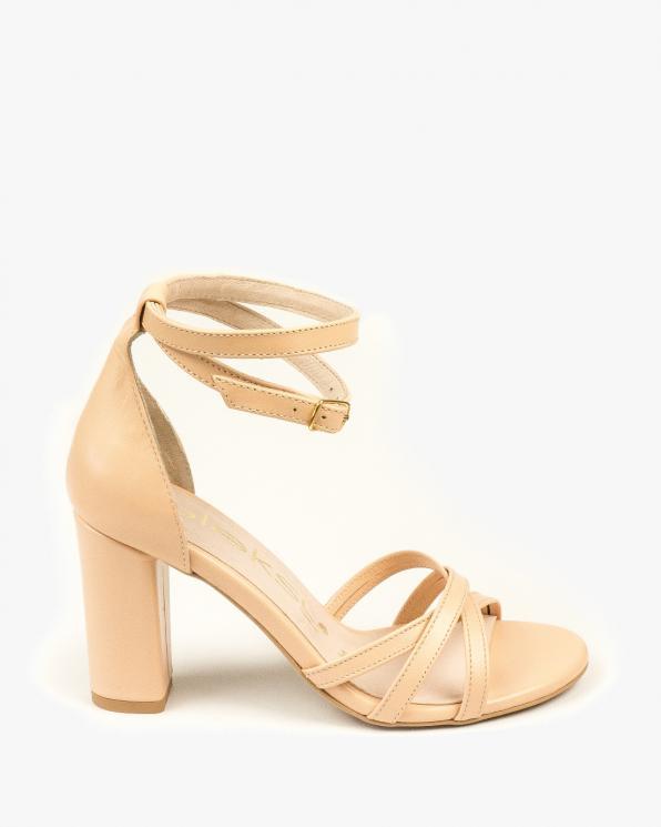 Beżowe sandały damskie skórzane 2996/F76