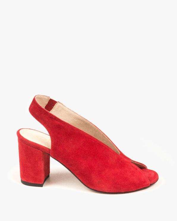 Czerwone sandały damskie skórzane 3071/955
