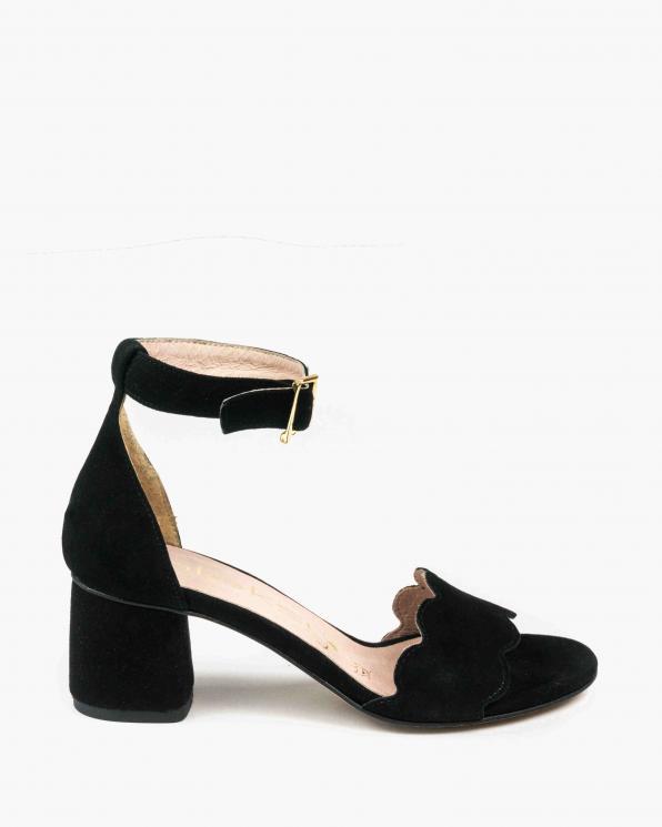 Czarne sandały damskie skórzane 2696/147