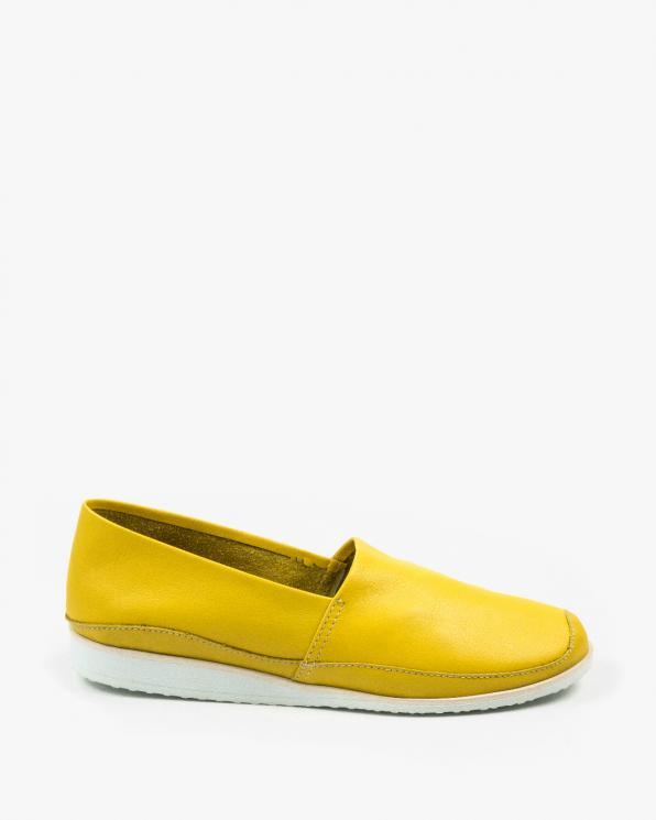Żółte półbuty damskie skórzane 3025/D15