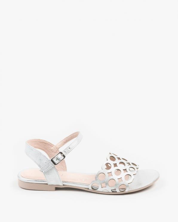 Srebrne sandały damskie skórzane 3038/963
