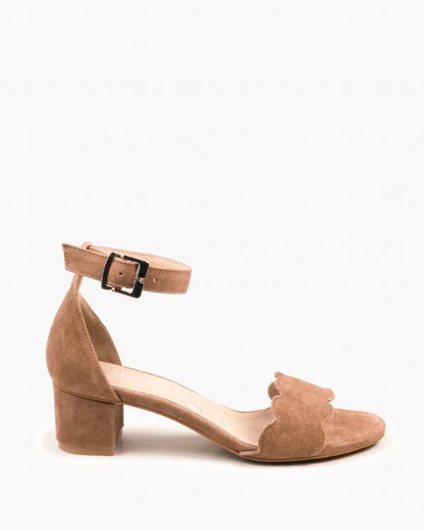 Beżowe sandały damskie skórzane 3066/F37