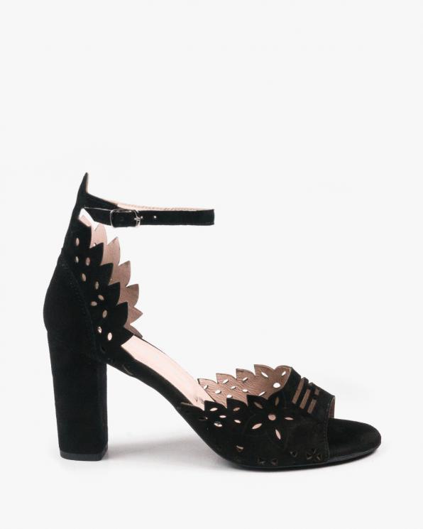 Czarne sandały damskie skórzane 3023/147