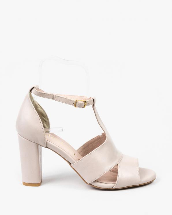 Różowe sandały damskie skórzane 2294/F59