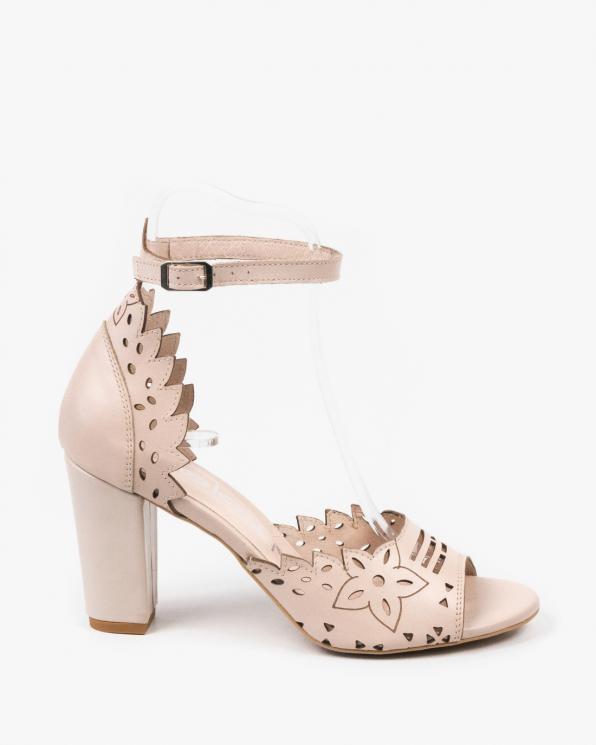 Beżowe sandały damskie skórzane 3023/F59