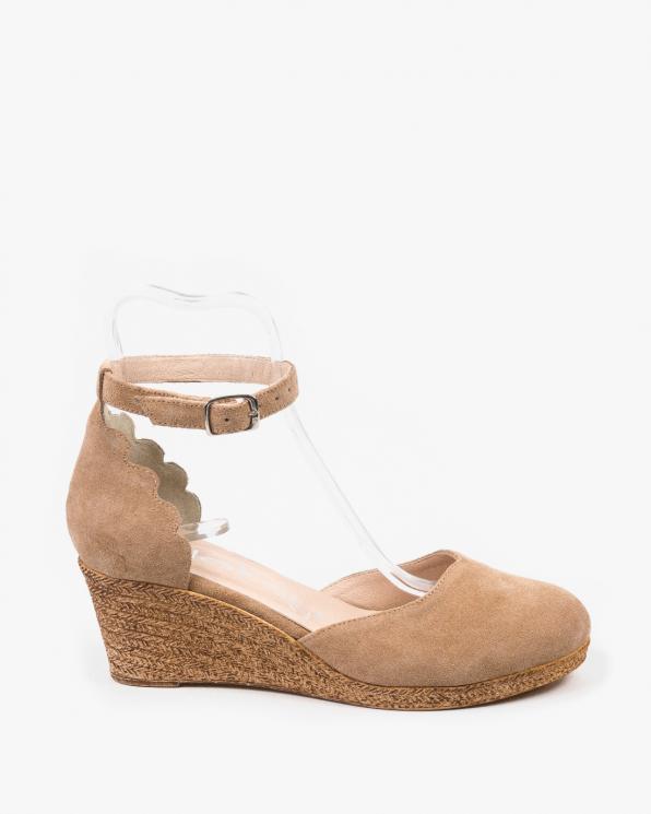 Brązowe sandały damskie skórzane 3064/F37