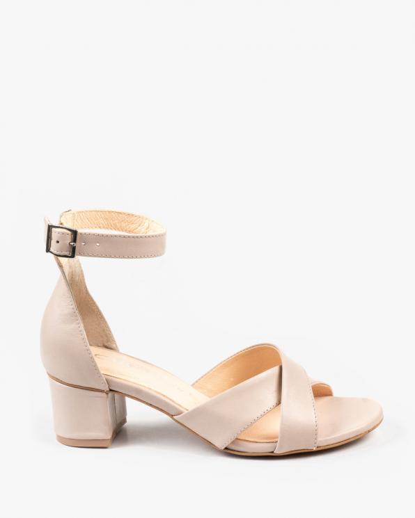 Beżowe sandały damskie skórzane 2997/F59