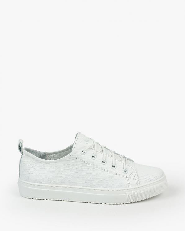 Białe trampki damskie skórzane 3164/G09