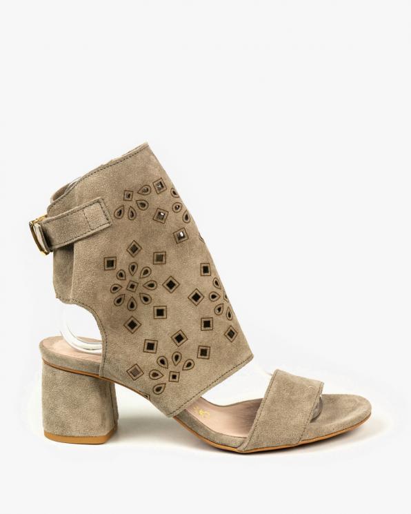 Beżowe sandały damskie skórzane 2851/E26