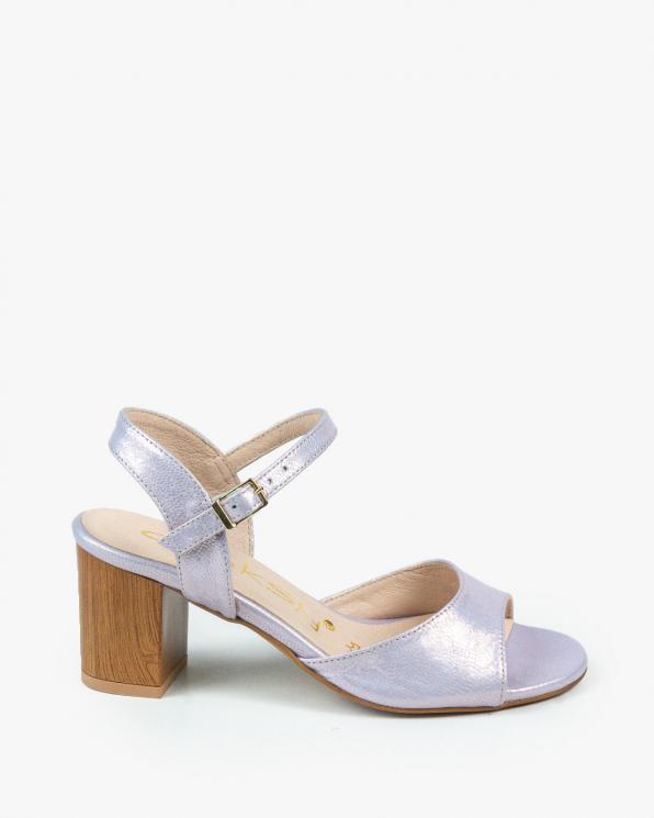 Fioletowe sandały damskie skórzane 3099/G01