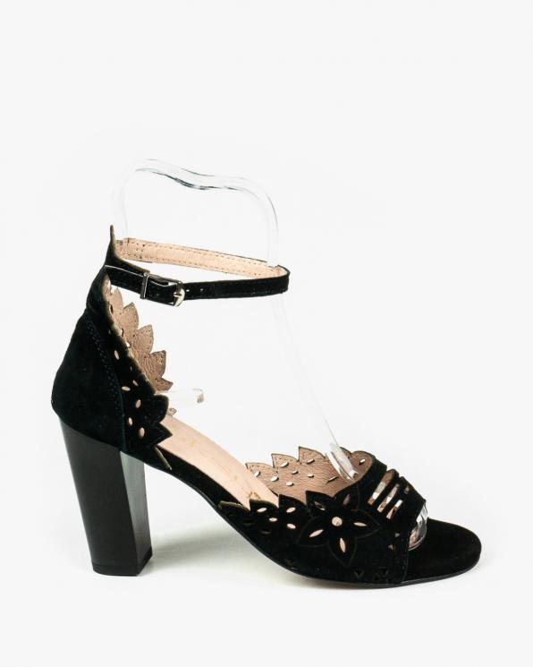 Czarne sandały damskie skórzane 3074/147