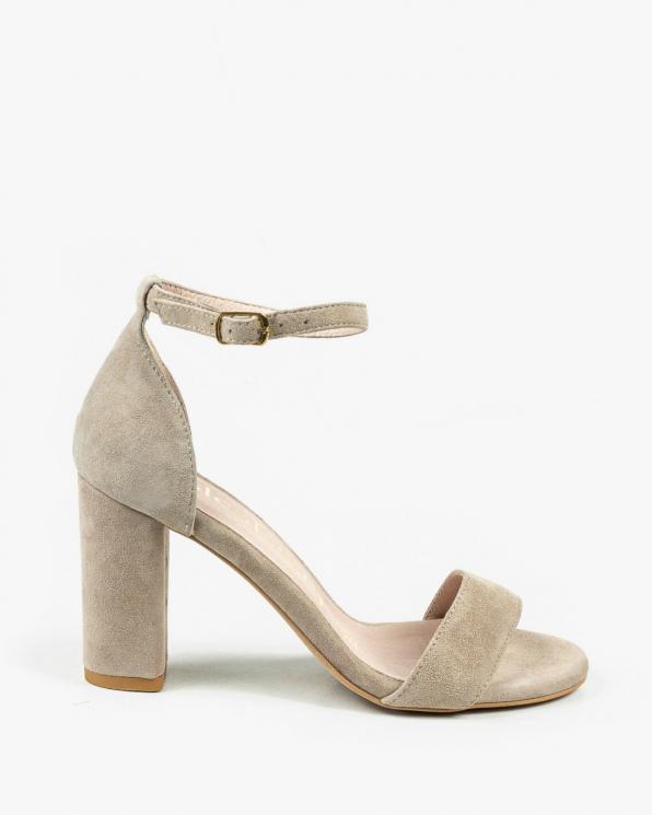 Beżowe sandały damskie skórzane 2872/E99