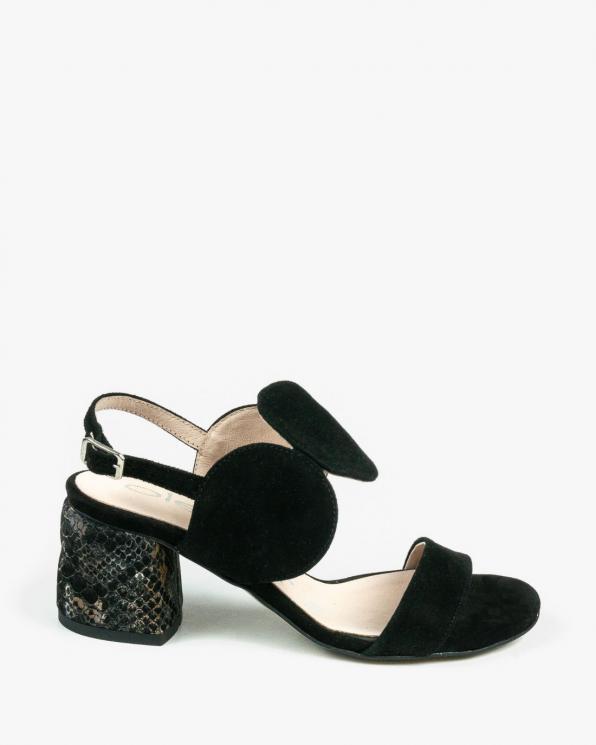 Czarne sandały damskie skórzane 2292/147/F54