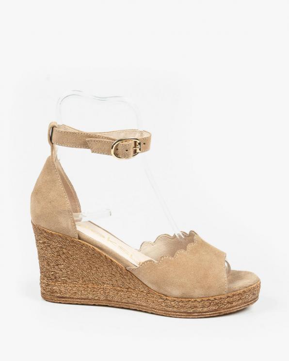 Beżowe sandały damskie skórzane 3043/F37