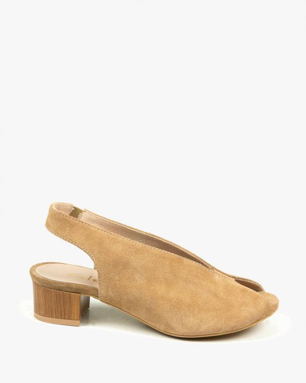 Beżowe sandały damskie skórzane 3124/F37