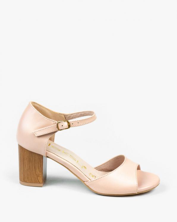Różowe sandały damskie skórzane 3130/G25