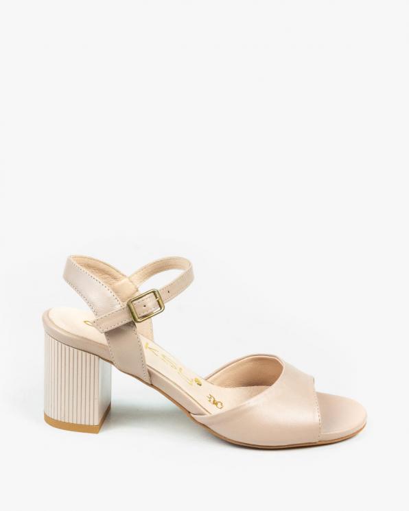Beżowe sandały damskie skórzane 3244/F59