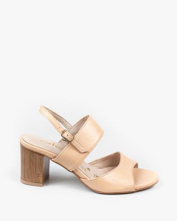 Beżowe sandały damskie skórzane 3091/F76
