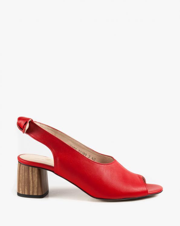 Czerwone sandały damskie skórzane 2701/200
