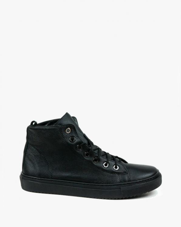 Czarne obuwie damskie skórzane 3181/C47