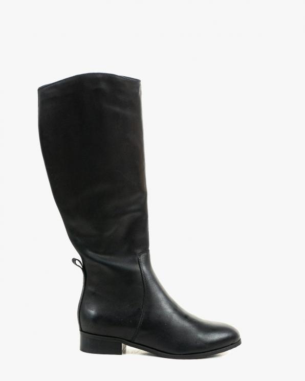 Czarne kozaki damskie skórzane 3350/A89