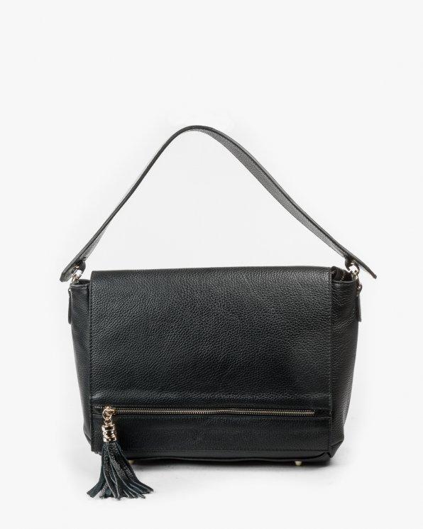 Skórzana torebka damska RBS/A73/CZARNY