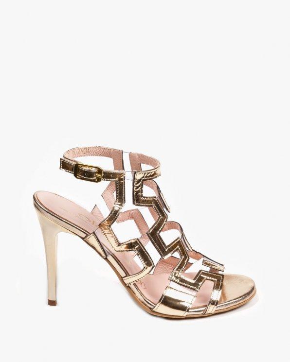 Złote sandały damskie skórzane 2434/A38/D67